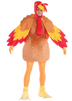Adult Deluxe Turkey Mascot Costume