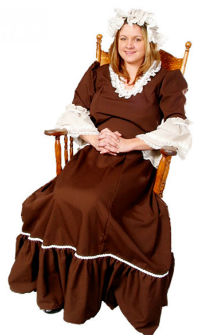 Deluxe Colonial Woman Costume