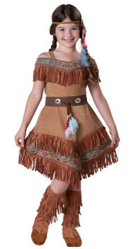 Deluxe Native American Indian Girl Costume