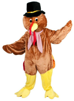 Thanksgiving Turkey Mascot Costume for Adults