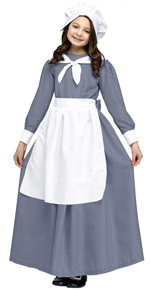Grey Pilgrim Girl Costume