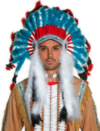 Authentic Native American Indian Feather Headdress