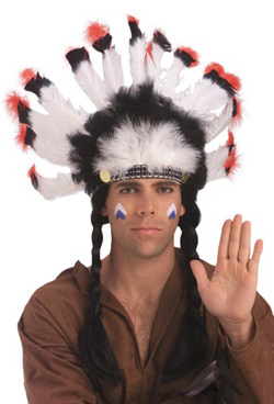 Economy Native American Indian Feather Headdress