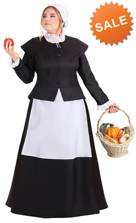 1X 2X Full Figure Pilgrim Dress for Women