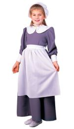 Thanksgiving Grey Pilgrim Girl Costume