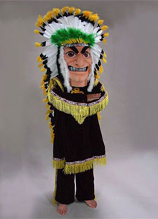 Native American Indian Chief Mascot Costume