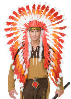Indian Chieftain Feather Headdress