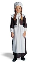 Brown Pilgrim Girl Child Costume