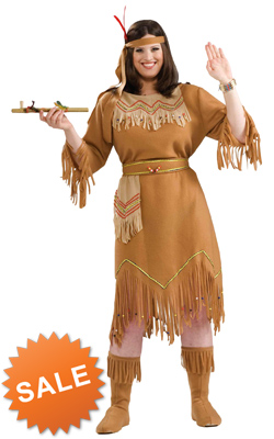 Plus Size Indian Woman Costume