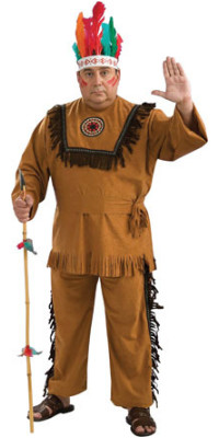 Native American Warrior Plus Size Costume - Indian Costumes