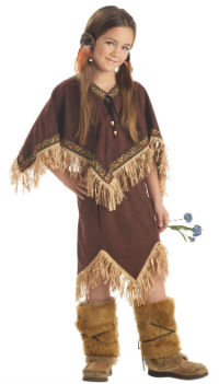 Princess Wildflower Native American Indian Girl Costume