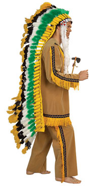 Realistic Native American Chief Headdress